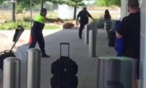 attack police with a rock in dallas