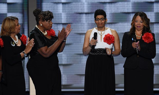 Geneva Reed-Veal, mother of Sandra Bland: 'Hillary knows that when a young black life is cut short, it's not just a personal loss. It is a national loss.' Photograph: Saul Loeb/AFP/Getty Images