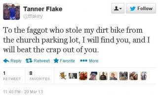 Tanner Flake Tweet