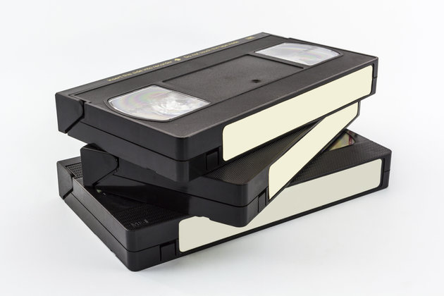 VHS video cassettes. Photo Credit: Getty Images