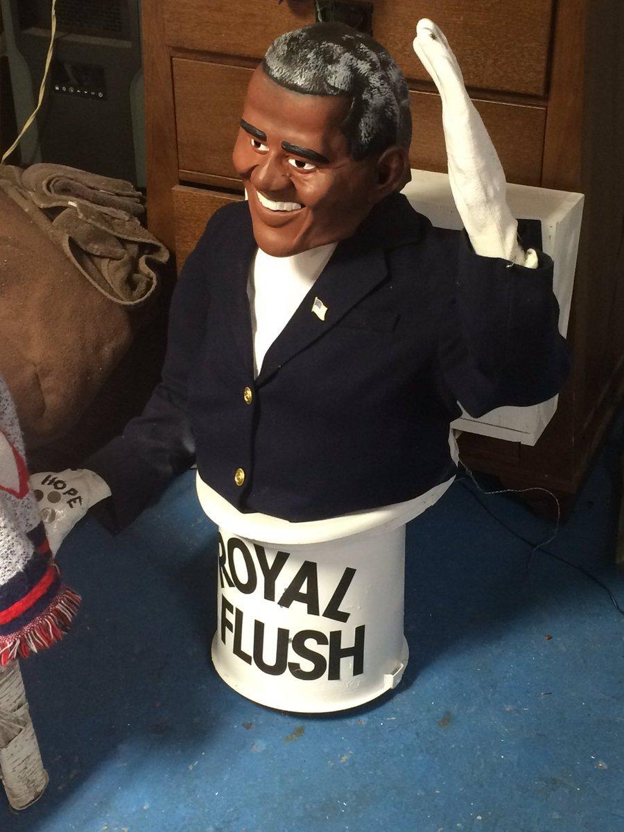 Obama on toilet
