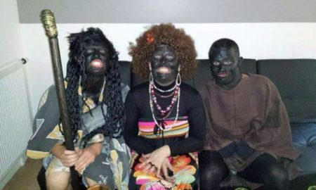 French Police Dress Up In Black Face, Scratch Themselves & Eat Bananas Like Monkeys