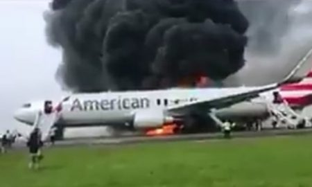 BREAKING NEWS: Plane Catches Fire At Chicago O'Hare Airport
