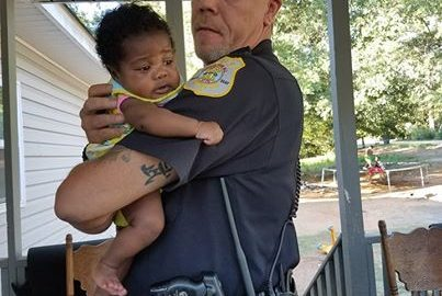 Police Officer Who Saved Baby From Choking Becomes Her Godfather