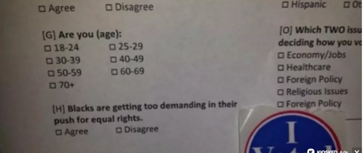 Exit Poll In South Carolina Asks If Blacks Are Getting Too Demanding For Equal Rights