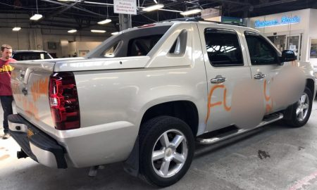 Body Shop Disgusted By N- Word Being Painted On Black Mans Truck So They Repaired His Truck At No Charge