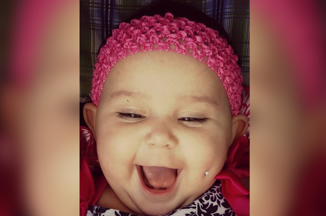 Mother Gets Death Threat After Posting Fake Picture Of Her Baby With A Cheek Peircing