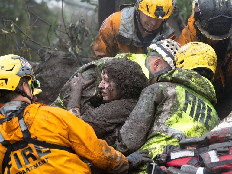 Mudslide In California Kills 17, Many More Missing & Over 100 Homes Swept Away