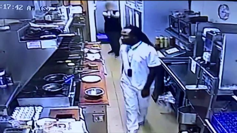 Man Jumps Counter & Punches Waitress In Her Face For Refusing A Refund, Another Employee With A Conceal To Carry Pulled A Gun On Him
